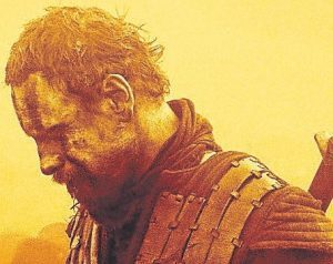 HERO'S DOWNFALL: Michael Fassbender as the warriorturned- murderer Macbeth