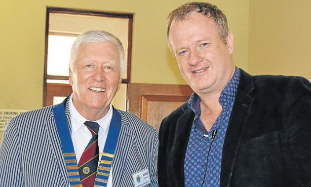 MANY THANKS: Probus president, Doug Sutherland, left, with National Arts Festival CEO Tony Lankester, at the club's meeting recently. Picture: ROB KNOWLES