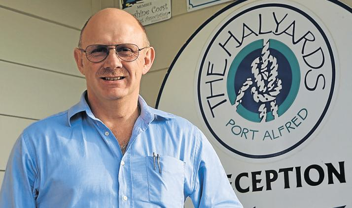 MAN OF THE MOMENT: Freddie du Preez took over the reins of the Halyards Hotel as general manager on Monday June 20, and is looking forward to his new life in Port Alfred. Picture: ROB KNOWLES