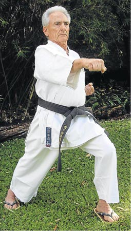 PRECISION: Shihan Koos Burger has spent the week at East Cape Shotokan-Ryu in Port Alfred