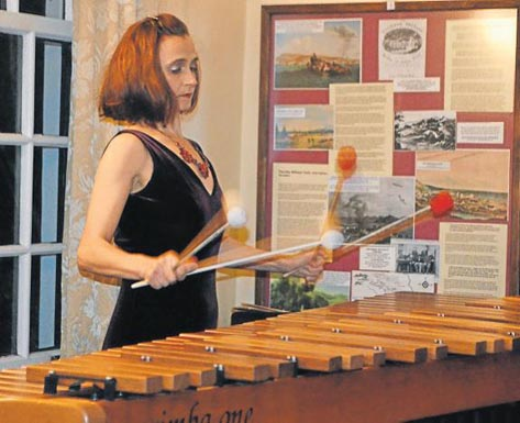 FULL REPERTOIRE: Magdalena de Vries shows her flair on four-mallet marimba at Classics at the Castle last Saturday. Picture: JON HOUZET