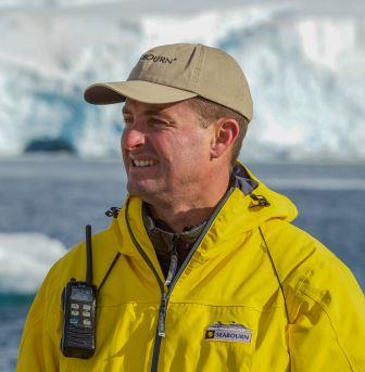 ALL ON BOARD: South African Robin A West, expedition leader of the Seabourn voyage to Antarctica in January this year