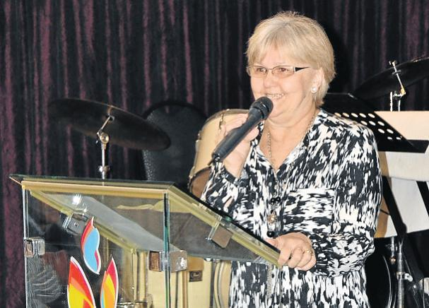TRUE FAITH: Pastor Lyn Rudolph testifies at a recent Christian Men's Association breakfast. Picture: ROB KNOWLES