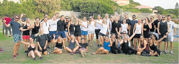 HELPING IMPROVE LIVES: Stenden South Africa students recently participated in a fun sports event to raise money for a daycare facility in Bathurst, which caters for 50 children.