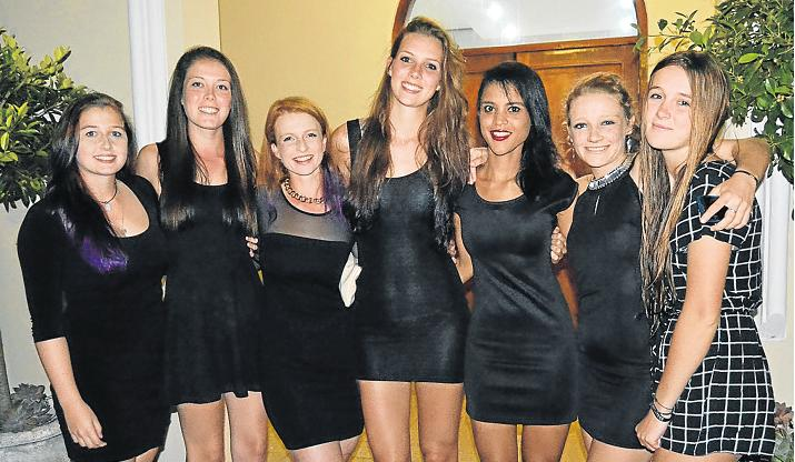 RHODES ROWERS: Rowers from Rhodes University attended the opening ceremony and meal at Port Alfred High School last Thursday. From left were Shannon Daniels, Natasha Moore, Bronwyn Gahagan, Ariana Matthews, Micaella Snyders, Rochelle-Mari Smith and Shaan Forster. Picture: ROB KNOWLES