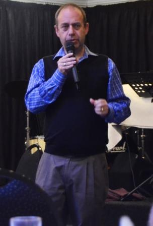 BOKER TOV: Presbyterian minister, Lihai Baruch Bercovich, speaking at the breakfast celebrating the 30th anniversary of the Christian Men's Association at the Lodge on Saturday Picture: LOUISE KNOWLES