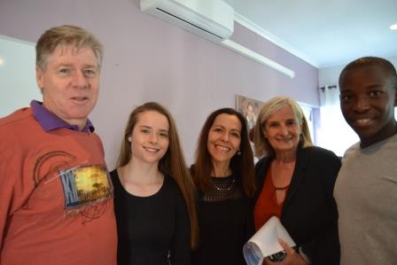 NEW GUYS AND GIRLS: Stefanie Dunnington with father Bruce and mother Alex and Sihle Eyles (right) with his mother Ursula Eyles