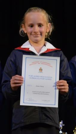 ACHIEVEMENT AWARD: Anna Heny in Grade 3 won an academic prize for good overall achievement, creativity and neatness Picture: LOUISE KNOWLES