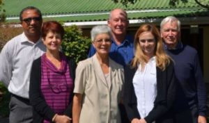 CARING FOR CHILDREN: The Port Alfred Child Welfare AGM was held at Word of Truth Ministries hall last Wednesday. Some of the members of the management committee for the next year are, from left, Arthur Isaacs, Heather Leicher, Ruth Cockbain, Tim Cockbain, Lyndel Moodie and Gunther Johannsen. Pauline Lamerton was absent for the photo Picture: LOUISE KNOWLES