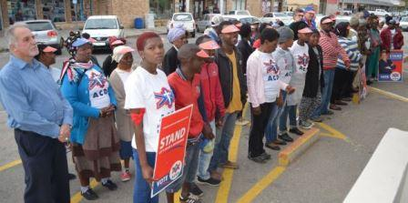 MORAL APPEAL: ACDP members outside the mayor's office last week Picture: JON HOUZET