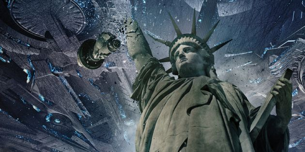 SPACE TRASH NOT WELCOME: As the aliens land on Earth whole cities such as New York, are completely decimated in 'Independence Day: Resurgence', now showing at Rosehill Cinema
