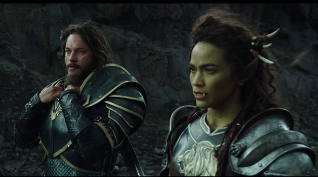 STRANGE ALLIES: The human military commander Anduin Lothar (Travis Fimmel) and half-orc Garona (Paula Patton) are two of the major players in 'Warcraft', now showing in 3D at Rosehill Cinema