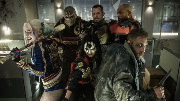 STRANGE COMPANY: Some of the characters making up the Suicide Squad, front from left, Harley Quinn (Margot Robbie), Katana (Karen Fukuhara), Captain Boomerang (Jai Courtney), with back, Killer Croc (Adewale Akinnuoye-Agbaje), Rick Flag (Joel Kinnaman) and Deadshot (Will Smith)