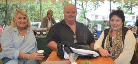 PLEASING TASTES: From left, Cheryl and Dudley van der Spuy and Bessie Mears enjoyed a cappuccino and gourmet snacks at the Bathurst Country Affair last Saturday Picture: JON HOUZET