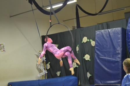 1. IN CHARACTER: Kayla Stiekema as the Cheshire Cat in the annual Sunshine Coat Gymnastics concert, Alice's Adventure